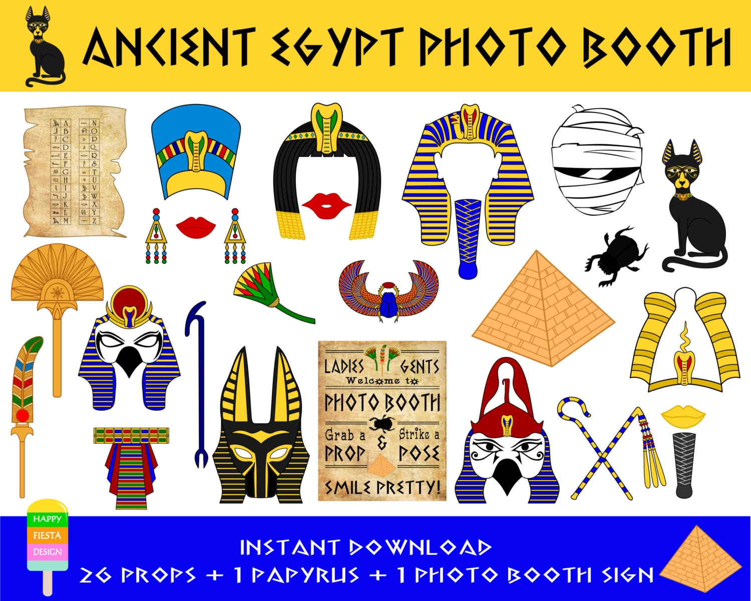 Modern Pharaoh Headdress Template Gallery Example Resume And