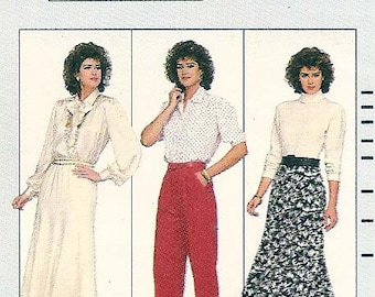 Vintage 1986 Butterick 4038 Family Circle Collection Misses' Skirt and Pants pattern, 1980's Skirt and Pants, business attire