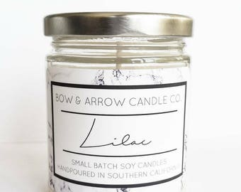 Natural Soy Candle Lilac Scented | 7 oz Jar Candle | Lilac Scented Candle | Floral Candle | Scented Soy Candle | Soy Candle | Gift Idea