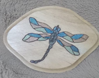 Engraved Dragonfly Wood Plaque