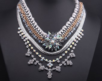 Retro Swarovski Crystal Vintage Sparkling Party Necklace NK13930