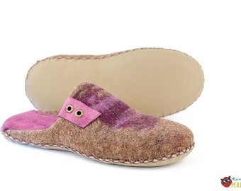Felted slippers for mens | Wool Home shoes
