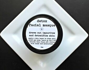 Detox Organic Face Mask, Activated Charcoal Mask,Oily Skin Mask,Gentle Skin Mask, 2oz