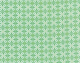 SOLSTICE - Equinox in Pine Green - Geometric Poinsettia Winter Cotton Quilt Fabric - Kate Spain for Moda Fabrics - 27187-14 (W3947)