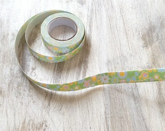 Fabric Ribbon tape 15mm flowers