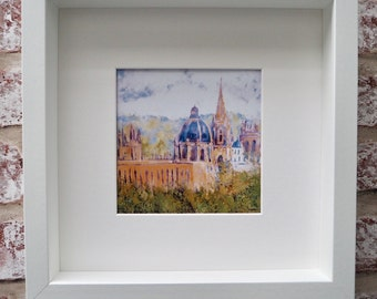 Print of an original oil painting Oxford 2 - framed and signed by the Artist