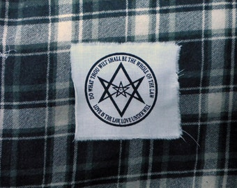 patch unicursal hexagram thelema crowley magick esoterism occultism mysticism