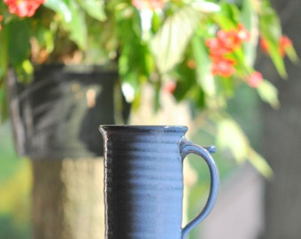 Large (16-ounce) Stoneware Coffee Mug in Deep Blue