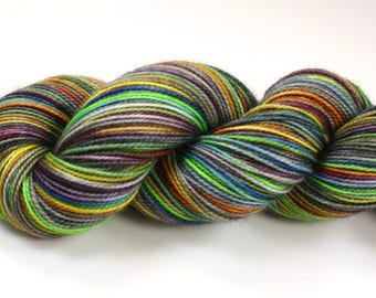 Lazy Days--hand dyed sock weight yarn, 2 ply merino, cashmere, nylon (400yds/100gm)