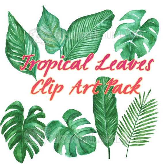 Tropical Leaves Clipart