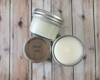 Midnight Lounge -Scented Soy Candle, Spirits Candle, Spirits Collection, Man Candles, Man Cave Candles, Soy Coconut Candles, Leather Candles