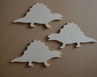 Stegosaurus, Wooden Stegosaurus Cut Out, Dinosaur, Set of 3, Nursery, Wall Decor, Boys Room Decor, Wall Art, Wall Hanging