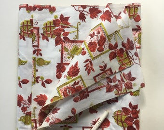 By the Yard 1950s Vintage Novelty Fruit Fabric 100% Cotton Or 1/2 yd-264-B19