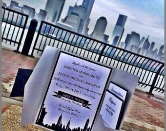 Skyline Wedding Invitation - New York Skyline Wedding Invitation