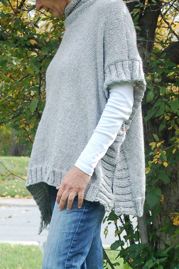 Easy to knit poncho pattern Knit poncho Simple to knit