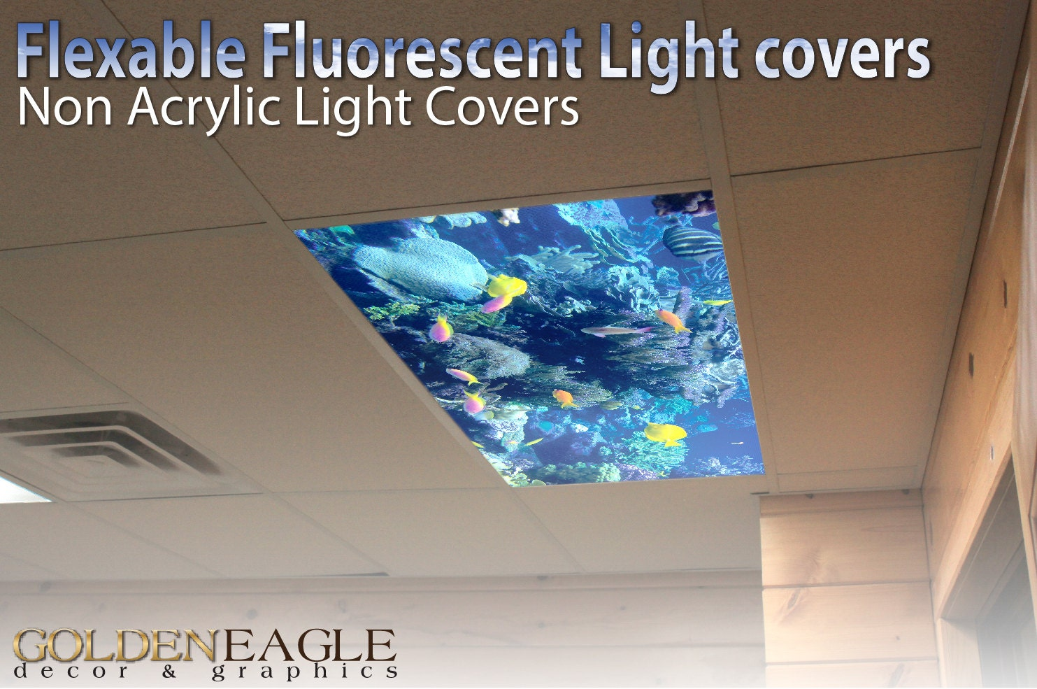 Flexible fluorescent light cover films skylight ceiling office zoom arubaitofo Image collections