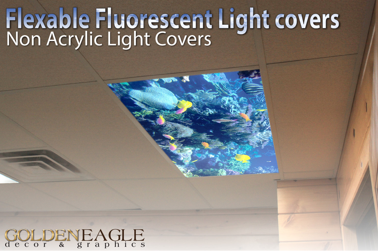 Flexible fluorescent light cover films skylight ceiling office zoom aloadofball Images