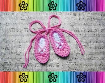 Ballet Slipper Applique - CROCHET PATTERN