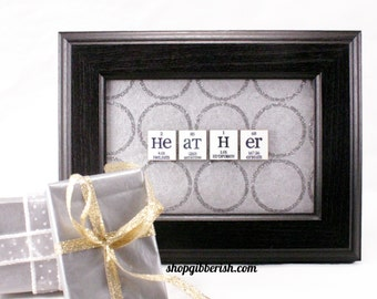 Chemistry Name-Sign - Science Custom Personalized Gift Idea - Science Teacher