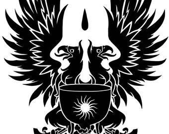 Dragon Age Grey Warden Heraldry Griffon Vinyl Decal