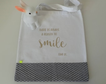 "Tote bag/bag ""Smile"" - for the optimistic!"