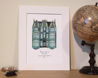 Bristol Illustrations: UNMOUNTED Trinity College Print
