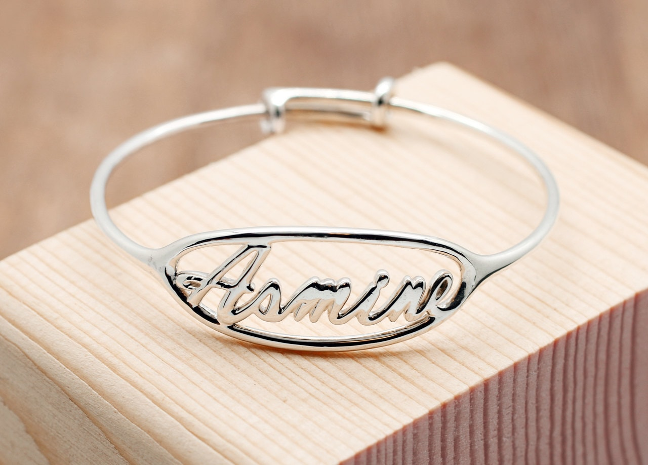 Personalized baby gifts kids adjustable bangle child size personalized baby gifts kids adjustable bangle child size bracelet baby bracelet infant jewelry unique baby gift negle Images