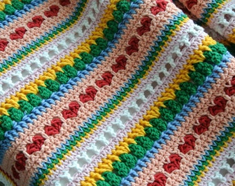 CROCHET PATTERN - Baby Blanket, Heart Blanket, Crochet Blanket Pattern, Bedspread, Crochet Afghan, Strape Blanket, pdf crochet patterns