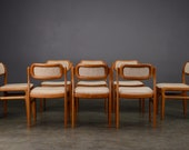 8 Danish Modern Dining Chairs Uldum Teak