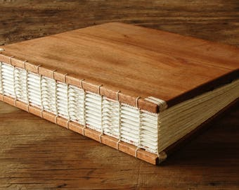 Wood Instant Photo Wedding Guest Book or Scrapbook mahogany  wood anniversary gift custom memorial book baby scrapbook- ready to ship