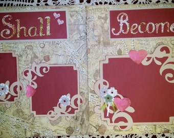 12x12 Wedding Scrapbook pages