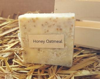 Honey Oatmeal Scent Homemade Goat Milk Soap