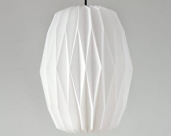 Textile Lampshade * Accordion * hand-folded origami lamp shade