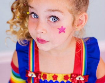 Rainbow Brite Tutu dress- Rainbow Brite  tulle dress- Rainbow Brite dress- Rainbow Brite costume