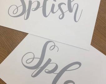 Splish Splash // Bathroom Print // Set of Prints // Bathroom // Decor Home Wall Art // Typography Prints