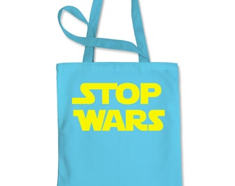 Stop Wars Now Shopping Tote Bag