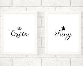King & Queen Wall Prints