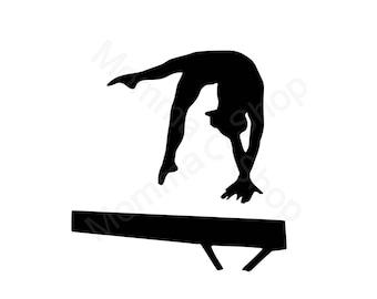 Gymnastics 1 Instant SVG Digital Download One Color File Cuttable **