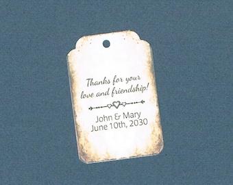 Wedding Tags, Set of 50, Thank You Tag, Printed Tags, Wedding Shower Tags, Tags, Wedding Favor, Thank You Tag