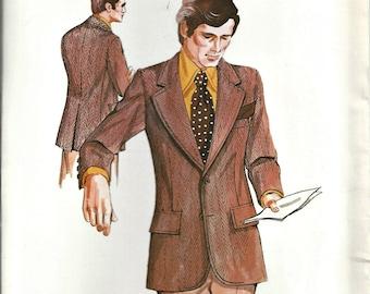 Kwik Sew Pattern 461 Men's Sport Coat Multi-sized 36, 38, 40 Vintage 1970's