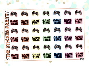 Gaming/Videogame Planner Stickers