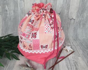 Large Project Bag, Knitting Bag, Spinning Bag, Crochet Bag – Colorway 3