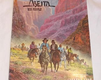 Vintage 1976 Booklet-American Indians of ABEITA..His People-Johnny Cash Orig Song-FREE Shipping!