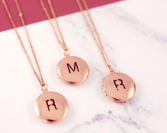Sister Necklace Set | Initial Locket | Three BFF Necklace | Personalized Locket | Friendship Necklaces | Picture Locket | Letter Necklace|RG