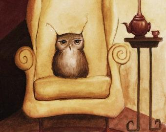 Fine Art Print - Herbert Enjoys Comfy Chairs