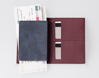 Travel Wallet / Minimalist Washable Paper Passport Sleeve in Uluru Red / Vegan Paper Passport Sleeve