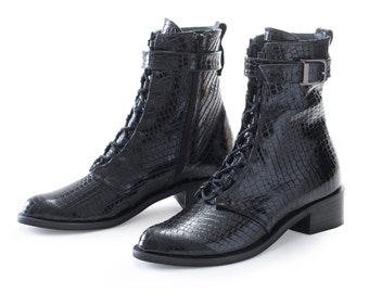 20% off | Black handmade leather boots, High Boots, water-proof  Boots, Sisifo Leather boots