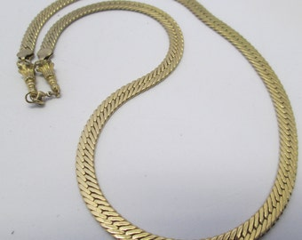 """Vintage Necklace yellow Gold toned 24 """" chain no markings"""