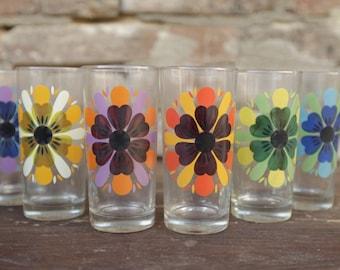 Flower glasses - Vintage - Made in France.