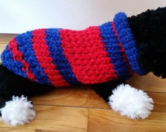 NY Rangers Dog Sweater, Double Knit, Small Dog Sweater, NHL Dog, Sweaters for Dogs, Hockey Dog, Dog,